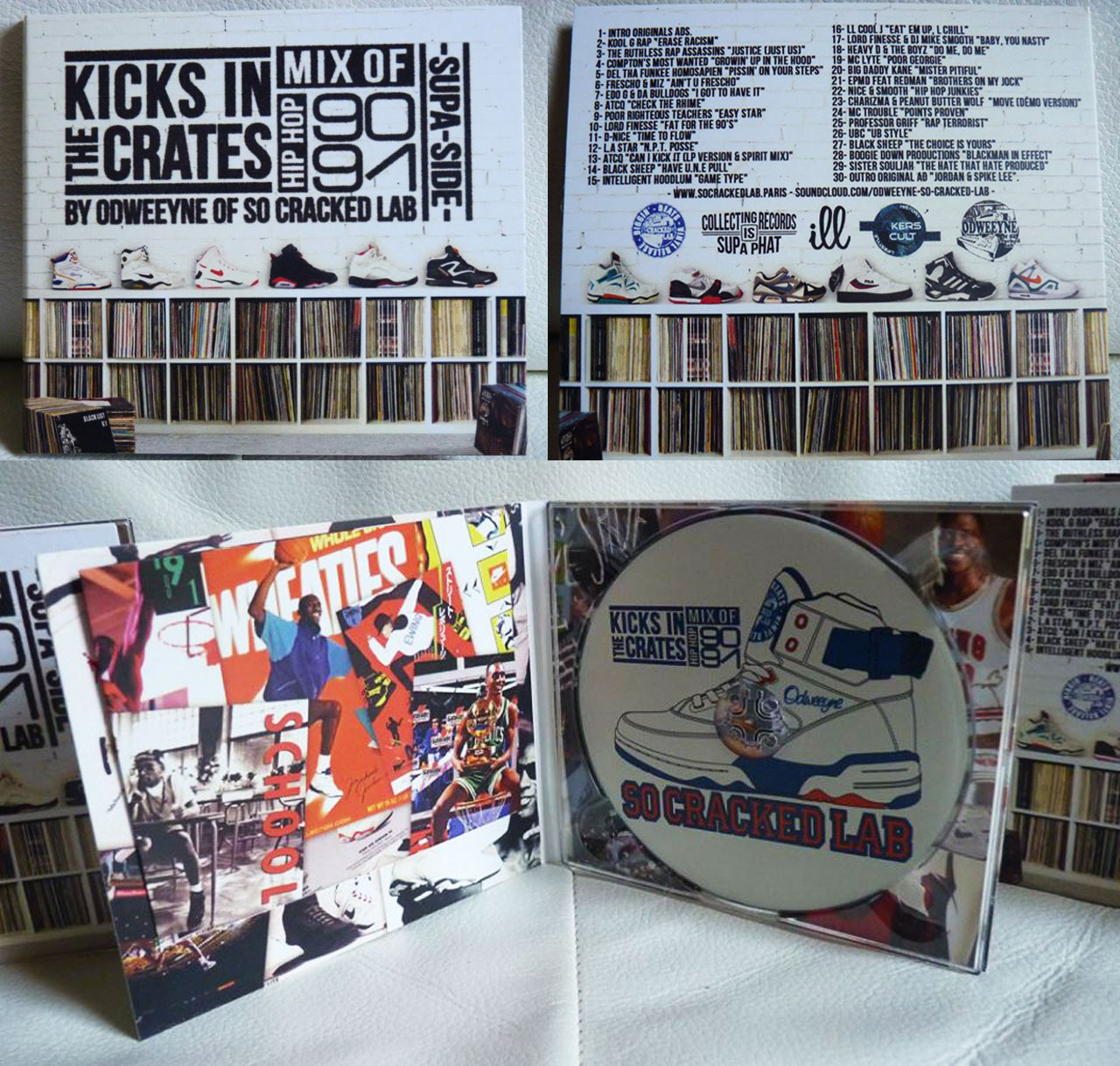 ODWEEYNE OF SO CRACKED LAB - KICKS IN THE CRATES VOL 1 & 2 - une réalisation ILL COMMUNICATIONS