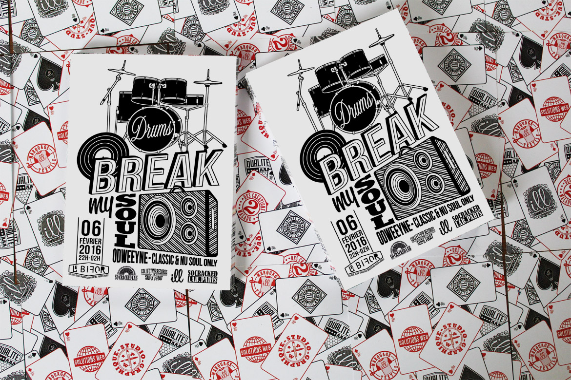 DRUMS BREAK MY SOUL - SO CRACKED LAB - ODWEEYNE -  une réalisation ILL COMMUNICATIONS