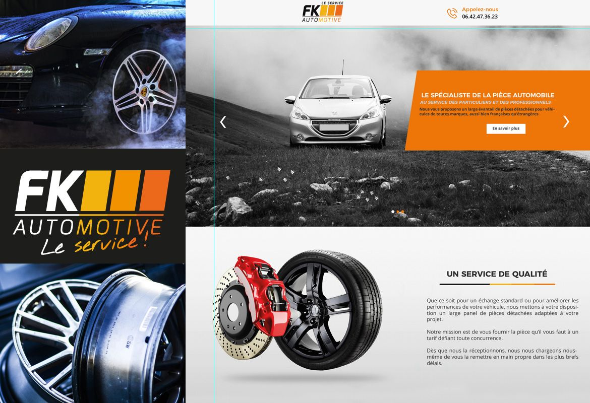 Webdesign - FK AUTOMOTIVE - Une réalisation ILL COMMUNICATIONS