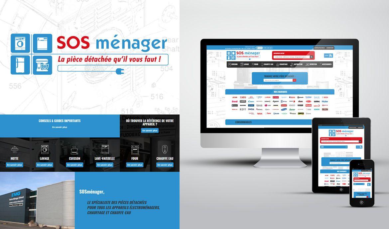 Webdesign - SOS ménager - Une réalisation ILL COMMUNICATIONS